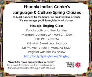 Navajo Singing Class @ K'é Main Street Learning Lab